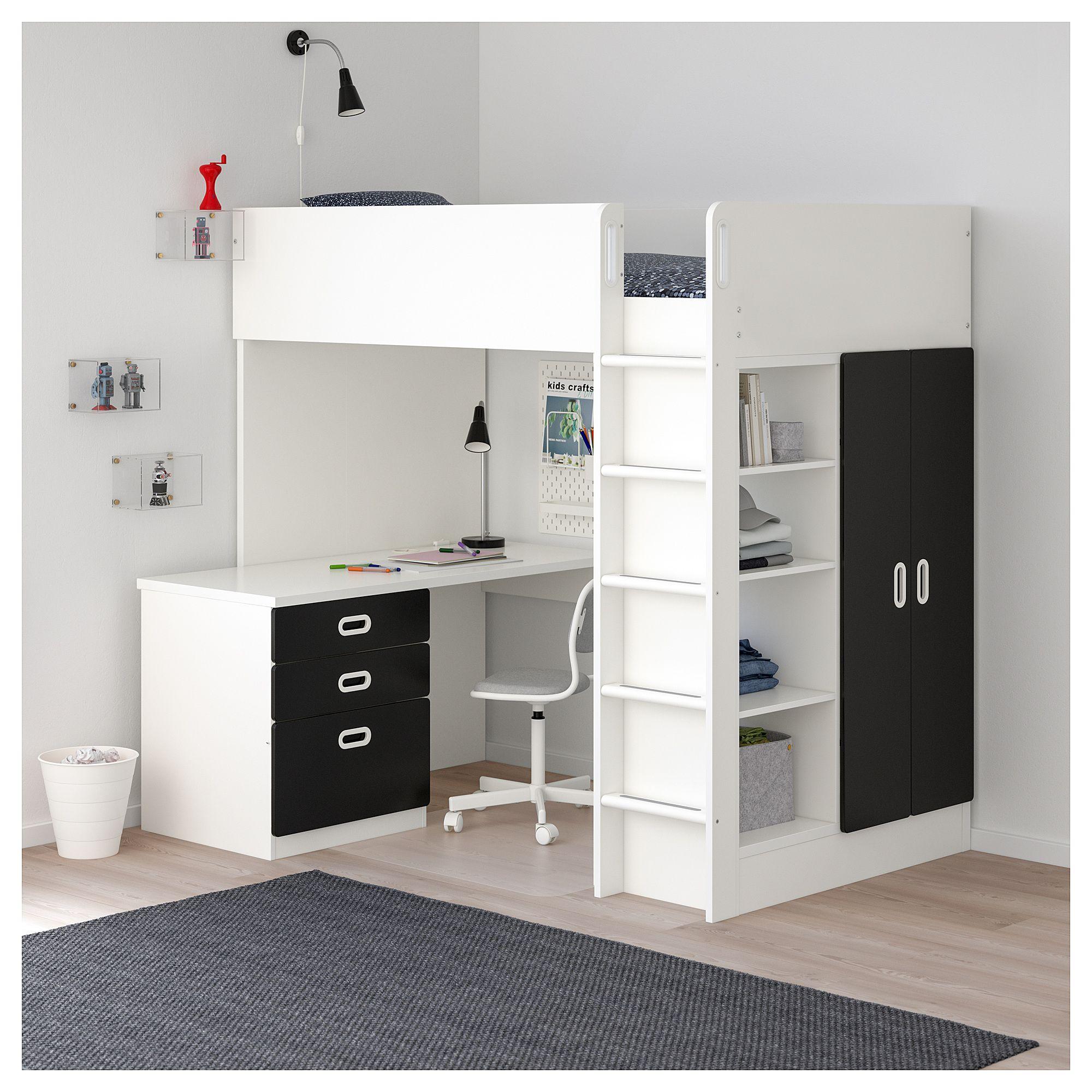 With 3 Loft Bed Ikea Fritids Drawers2 Doors WhiteEn Stuva qMLSzVpGU