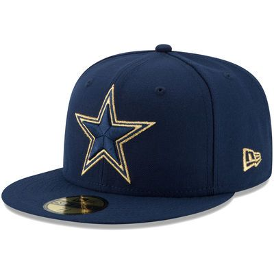 ffd8ba571bc Men s Dallas Cowboys New Era Navy On the Fifty Gold Team Logo 59FIFTY  Fitted Hat