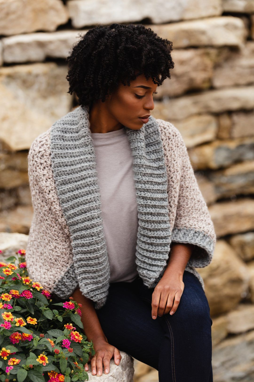 The Veronica Cocoon Cardi, an oversized blanket sweater - TL Yarn Crafts
