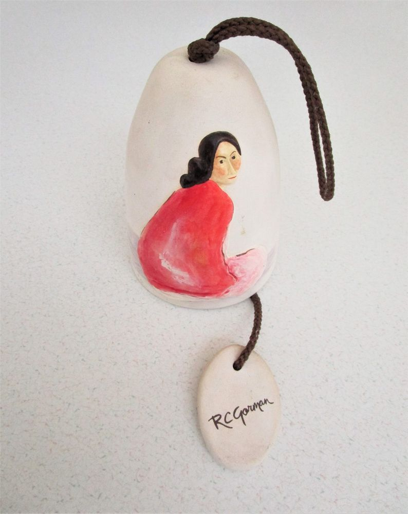 Details about rc gorman native american artist pottery clay bell details about rc gorman native american artist pottery clay bell woman artist signed vintage dailygadgetfo Image collections