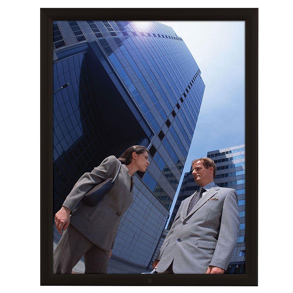 Lockable Weatherproof Frame 22x28 Poster Size Black Color Profile ...