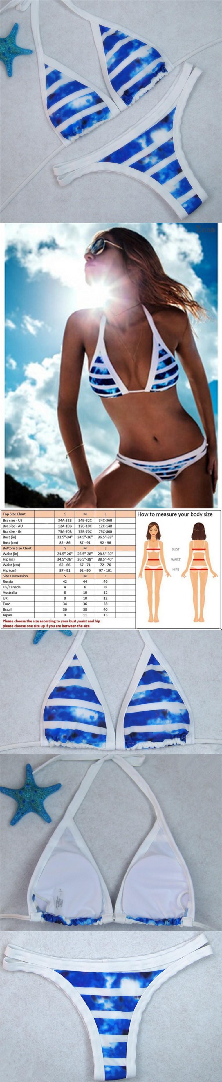 SEXY Retro PRINT BIKINI Tankini Mayo Micro Swimwear Push Up Beach Swimsuit Trikini Bandage Monokini Plaid Badpak Praia Pareo $11.22
