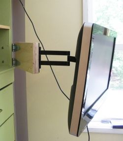 Make Your Own Tv Swivel Arm Wall Mount Extension Diy Tv Wall