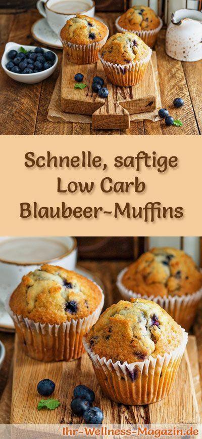 Schnelle, saftige Blaubeer-Muffins - Low-Carb-Rezept ohne Zucker #fitness #gesundheit #gesundheitund...
