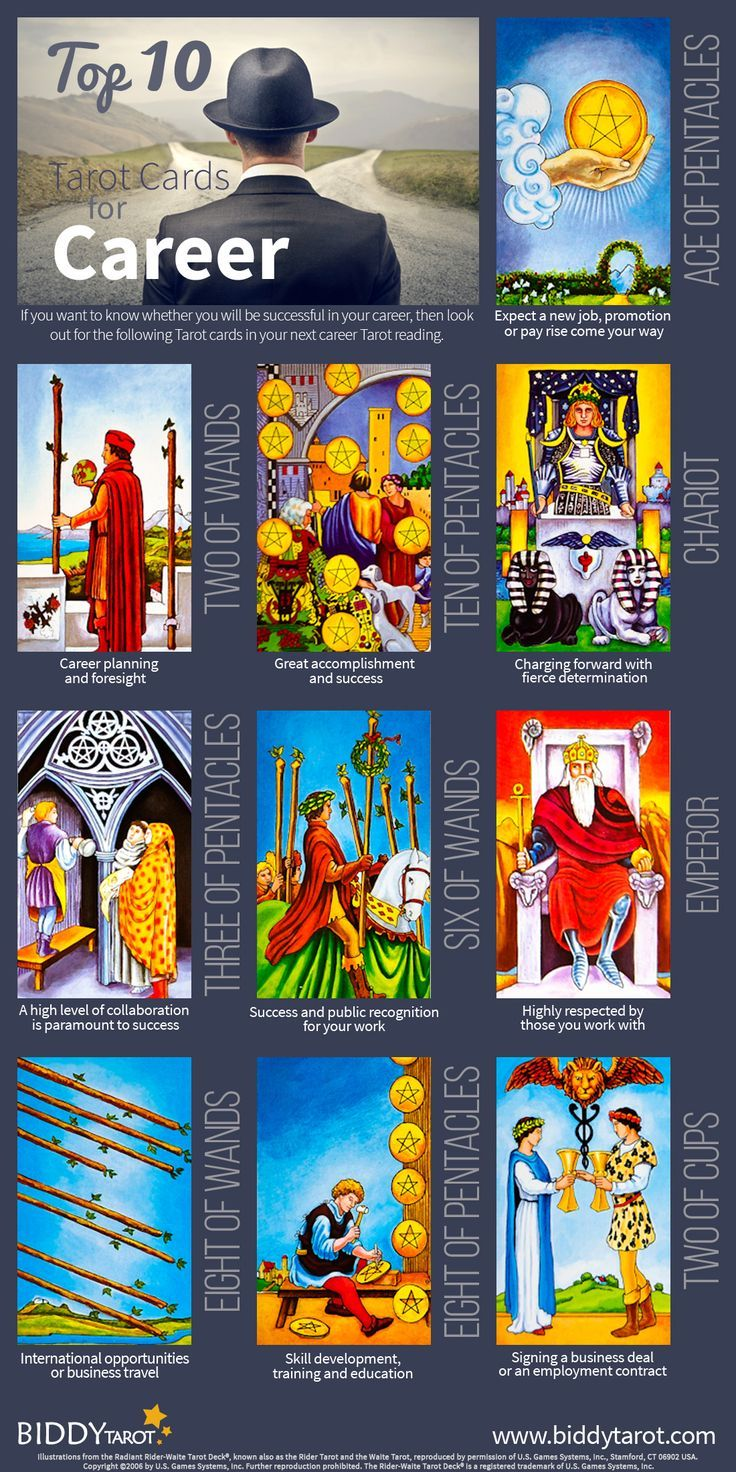 Divination: #Tarot Top 10 Career Cards. Everyone Wants A