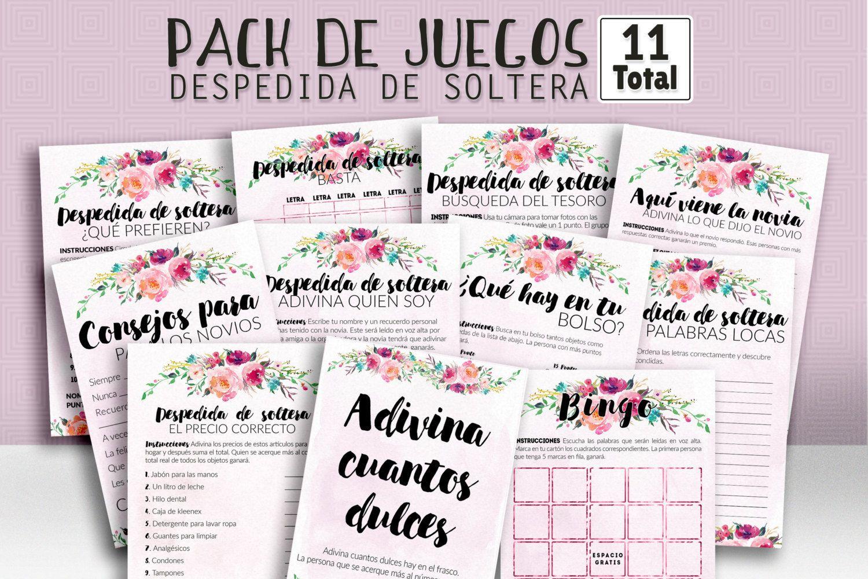 Bridal shower games in spanish, bridal shower spanish, pack of games ...