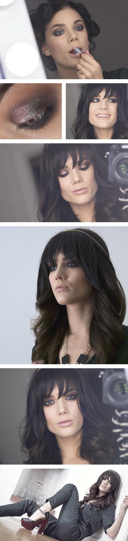 Gorgeous Bangs!  #stureplan_se #lindahallberg #hairstyle #hairdo #curls #bangs #makeup #beauty - bellashoot.com