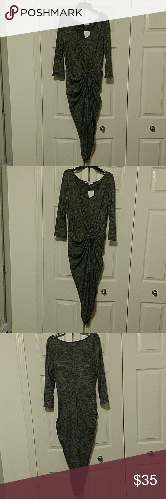 The vanity room dress tie dress dark grey and vanities
