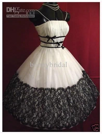 Black Rockabilly Wedding Dresses