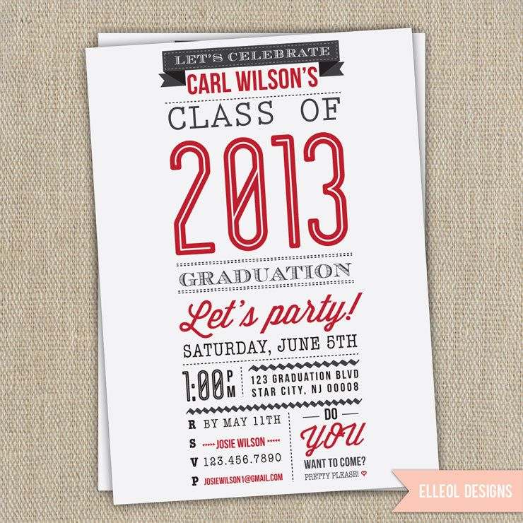 high school college graduation party invitation announcement