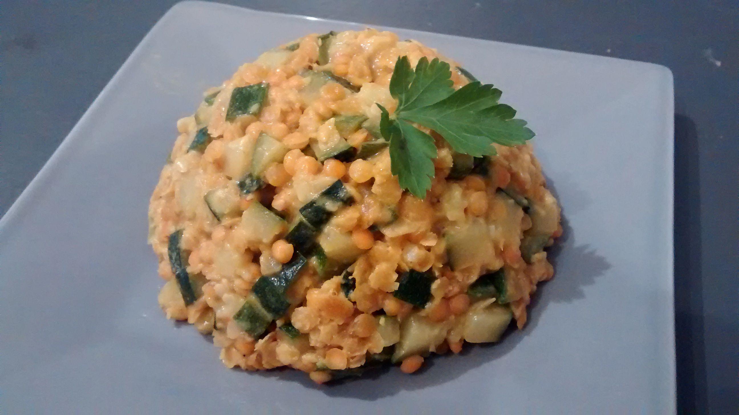 Lentilles corail et courgettes au lait de coco | Recettes ...