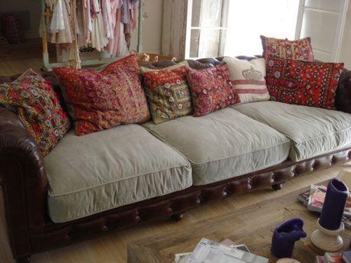 Ordinaire Rachel Ashwell Leather Sofa | Rachel Ashwell Shabby Chic | Shabby Chic
