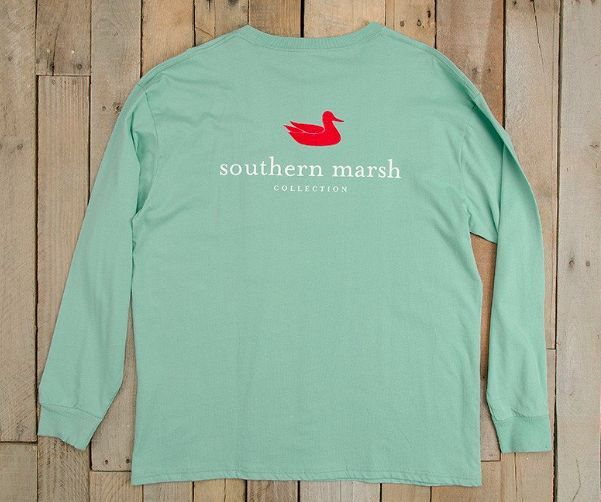 Southern Marsh Authentic Long Sleeve Tee - Seafoam