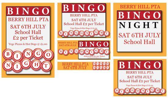 bingo night published pta templates and poster kits teacher