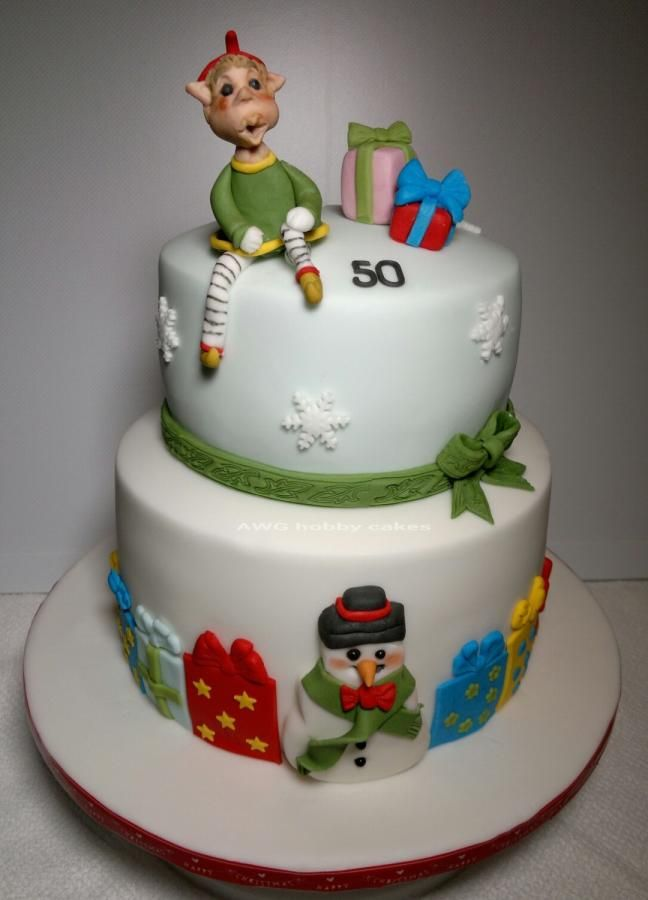 Birthday Christmas fun - Cake by AWG Hobby Cakes