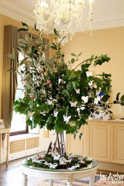 Rbol de los deseos para boda con terjetitas de mariposas rbol de los deseos para boda con terjetitas de mariposas fandeluxe Images