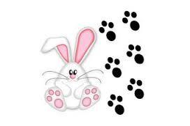 Resultado de imagem para patinhas de coelho da pascoa para imprimir