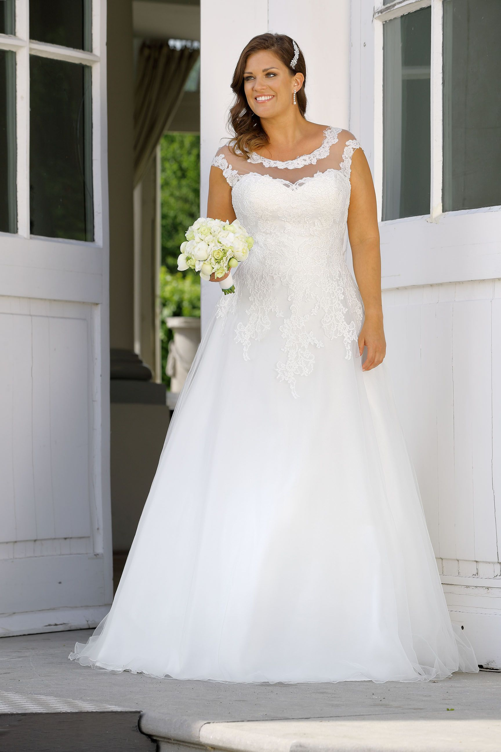 Plus size wedding dress ladybird bridal new collection gown
