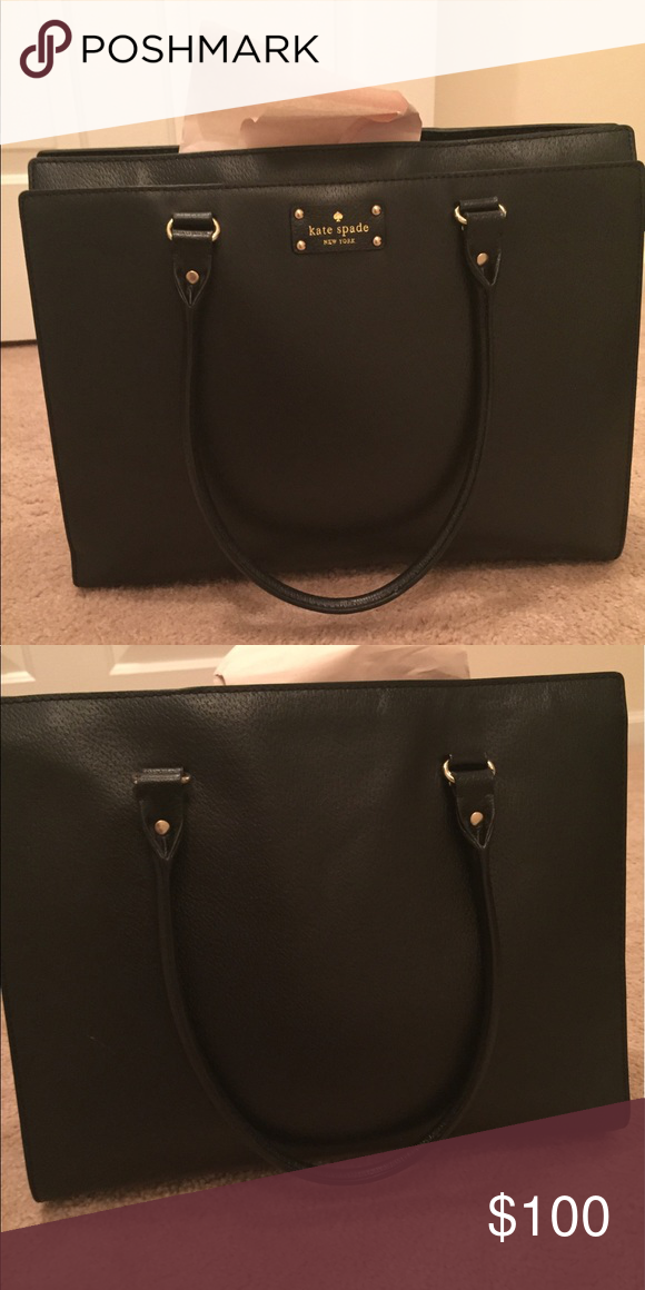 Kate Spade Handbag Black Bag With Hot Pink Lining Kate Spade Bags