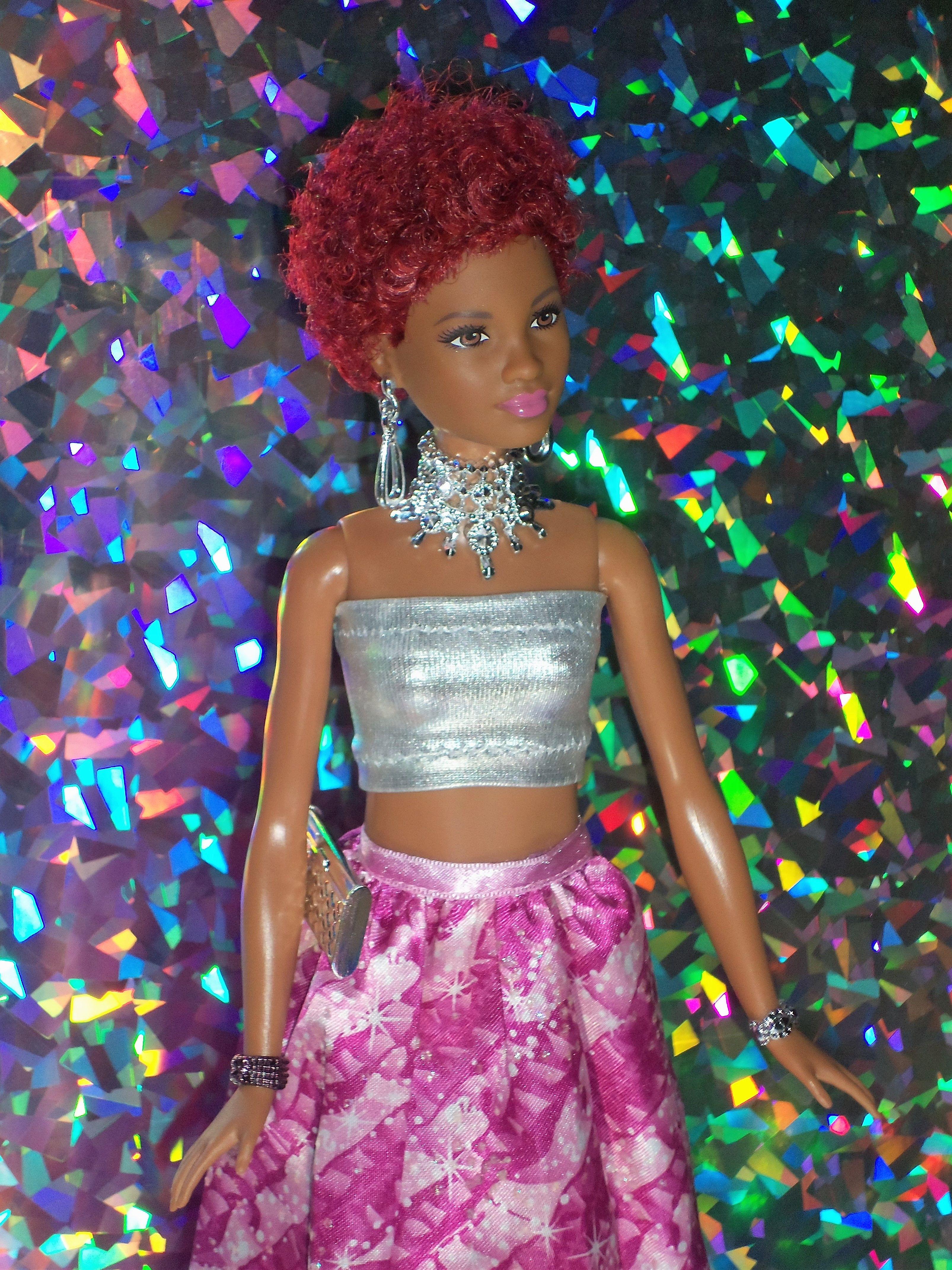 made to move barbie doll AA dark hair   Barbie dolls