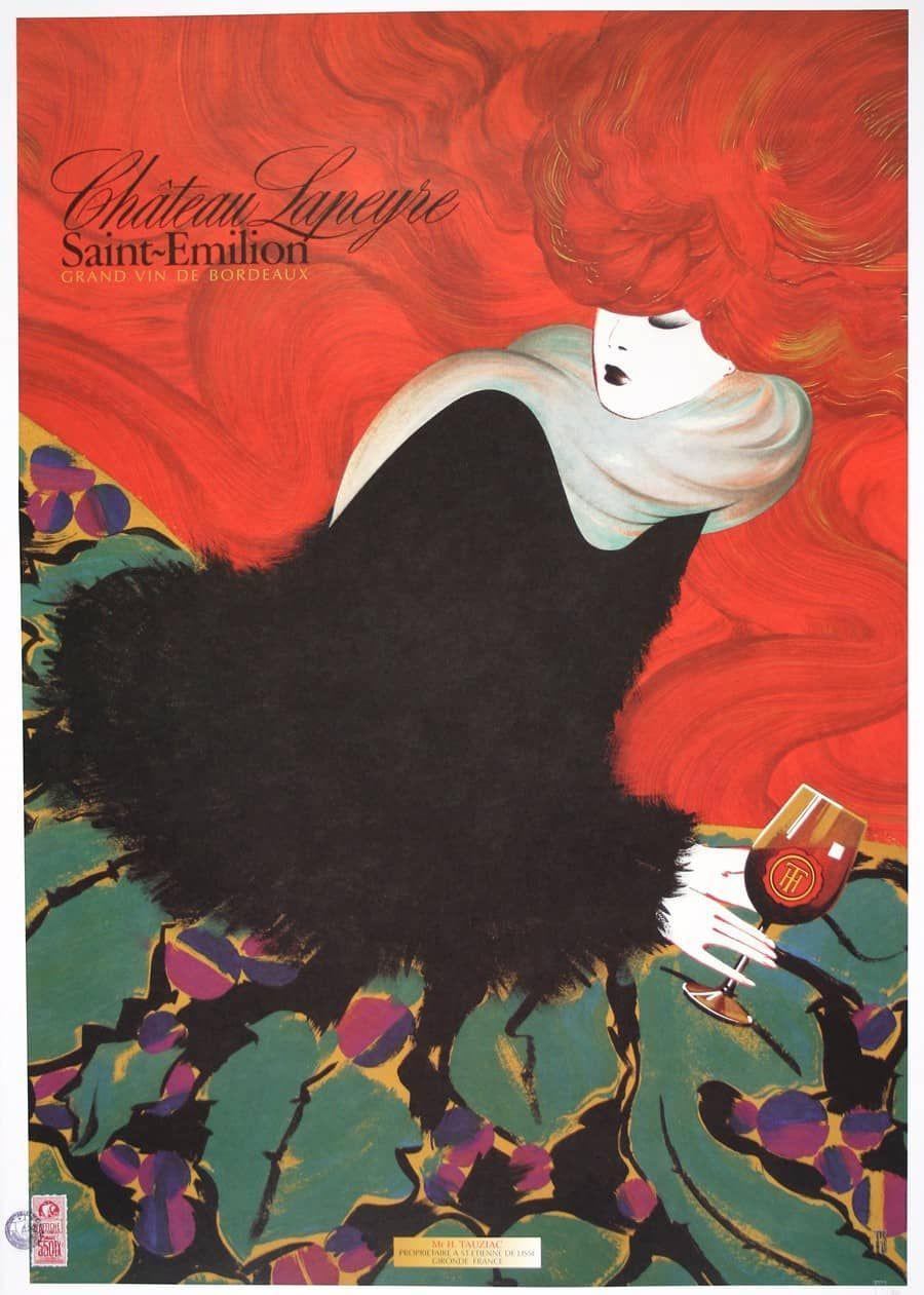 Chateau Lapeyre Vertical By Ps Vintage Posters Art Vintage Art
