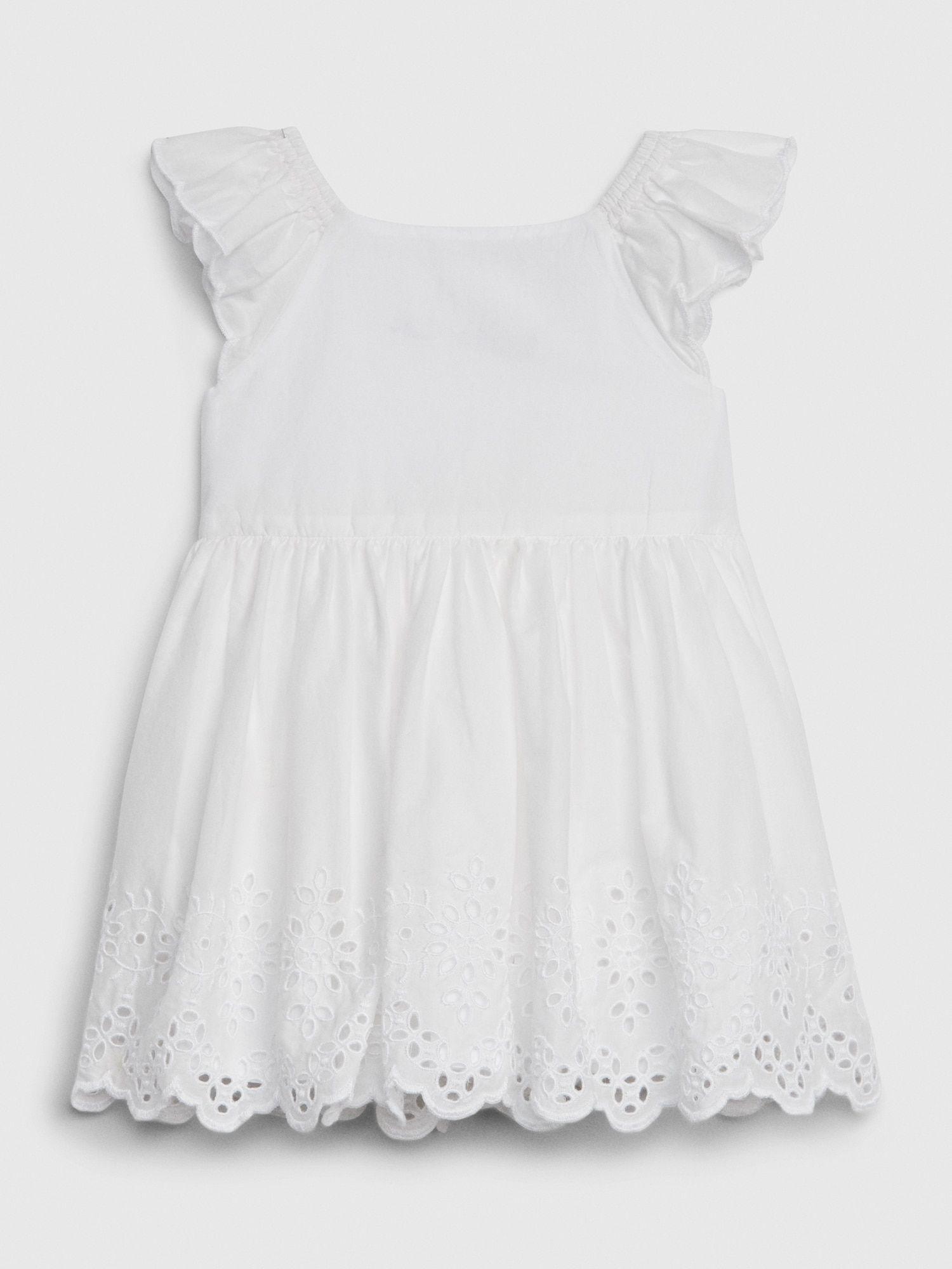 Baby Eyelet Flutter Dress Gap Baby Girl White Dress Baby Girl Dresses Baby Eyelet [ 2000 x 1500 Pixel ]