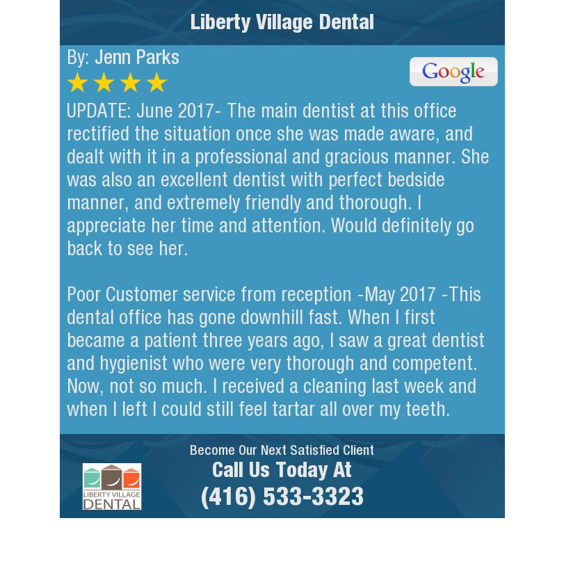 UPDATE June 2017 The main dentist at this office