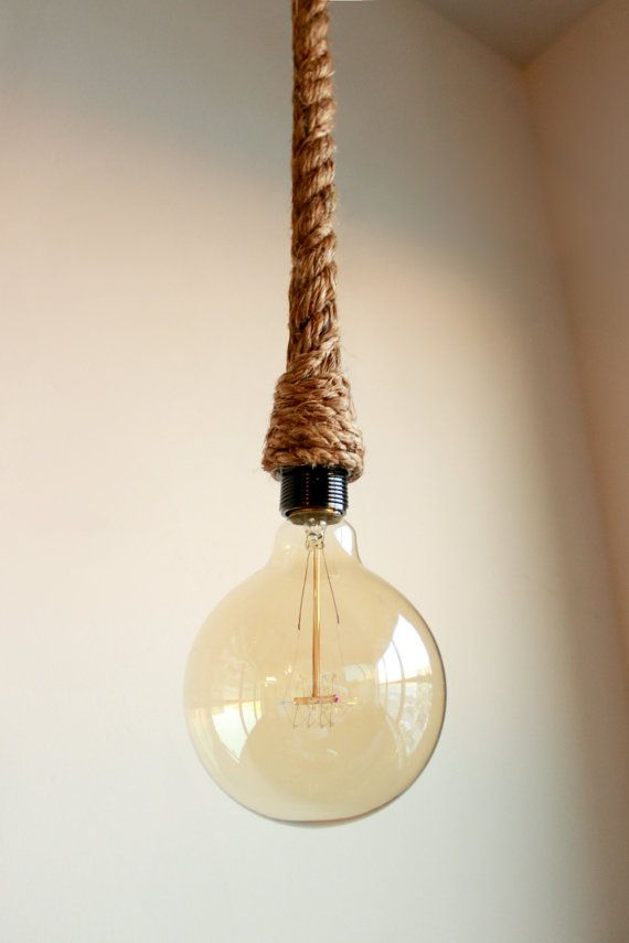 3ft Rope Pendant Hand Wrapped In Rope For Pendent Lighting