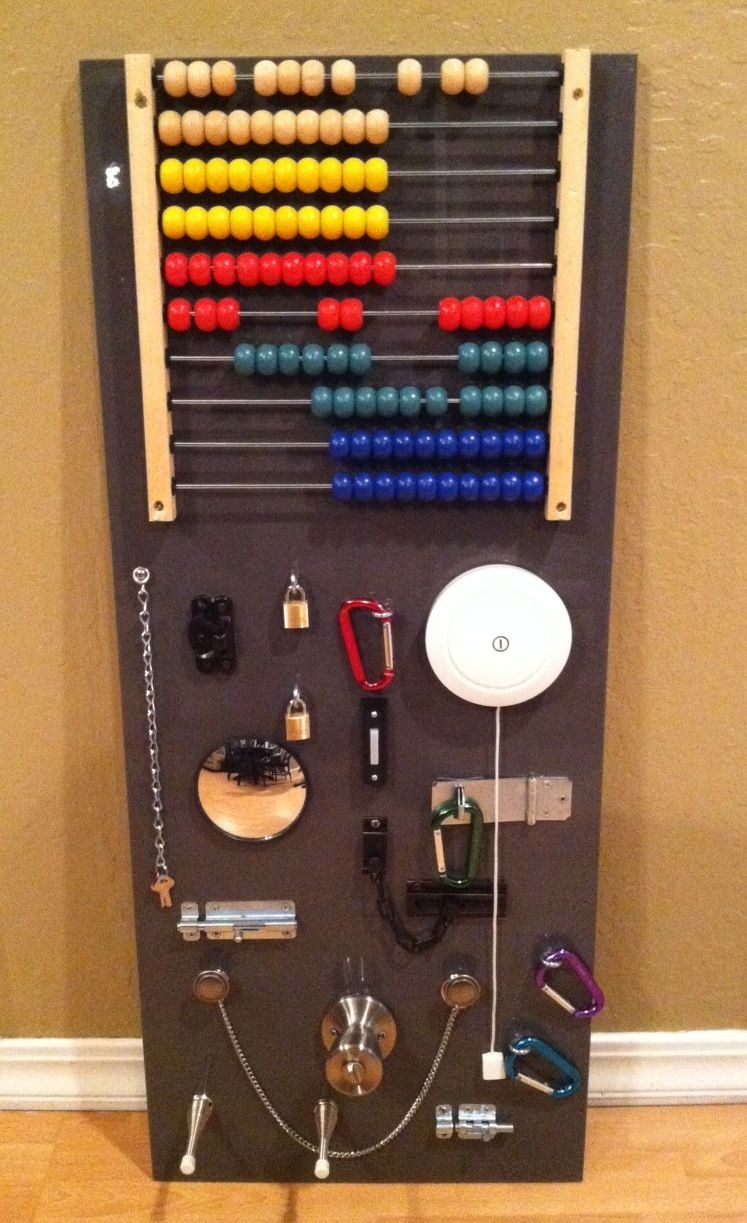 A Children S Homemade Busy Board This Started With An Ikea As