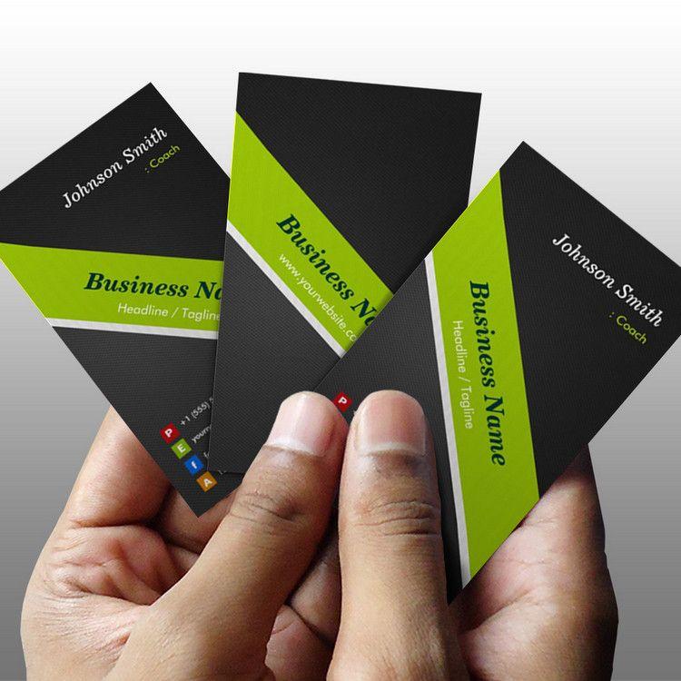 Coach premium black and green business card template you can coach premium black and green business card template you can customize this card with custom business cardsbusiness reheart Images