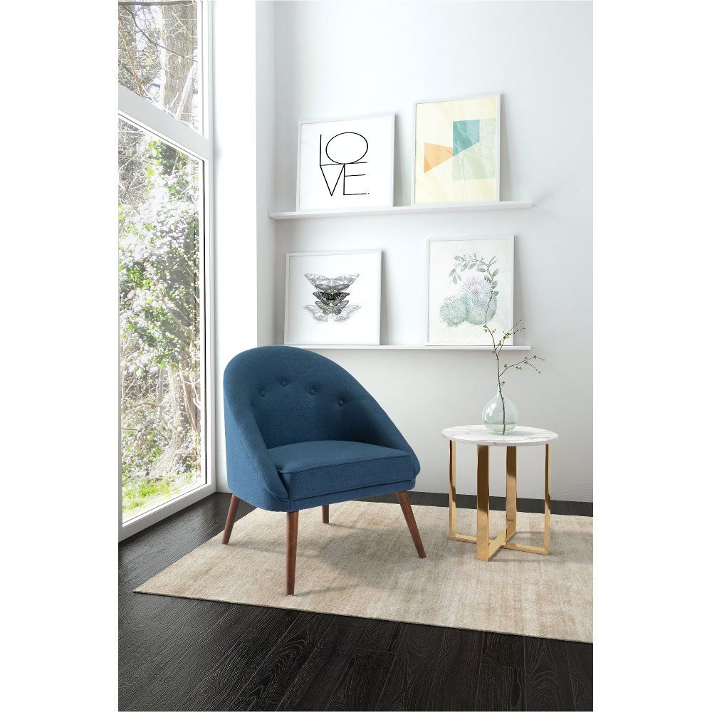 Casual Contemporary Blue Accent Chair Carter in 2020