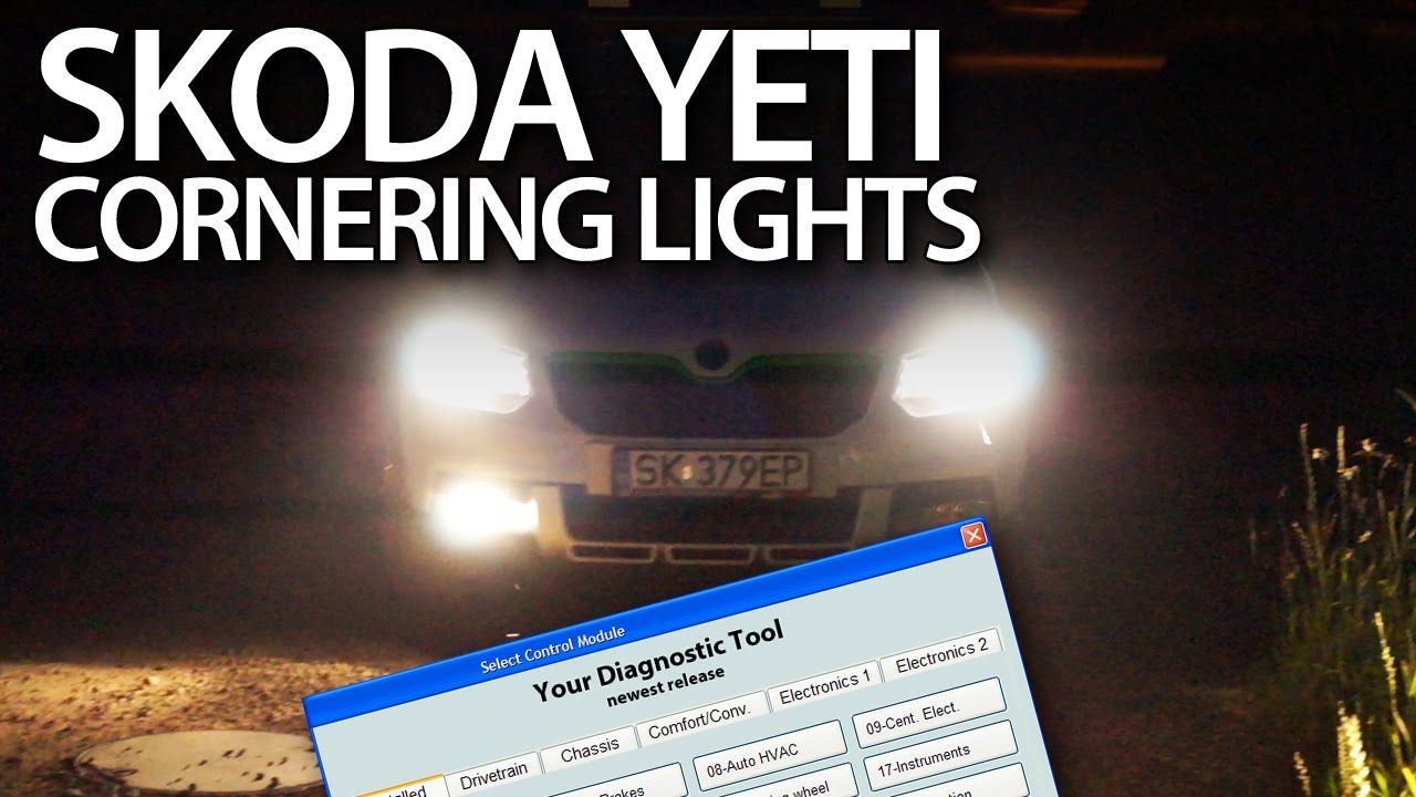 How to activate cornering lights in #Skoda #Yeti #VCDS