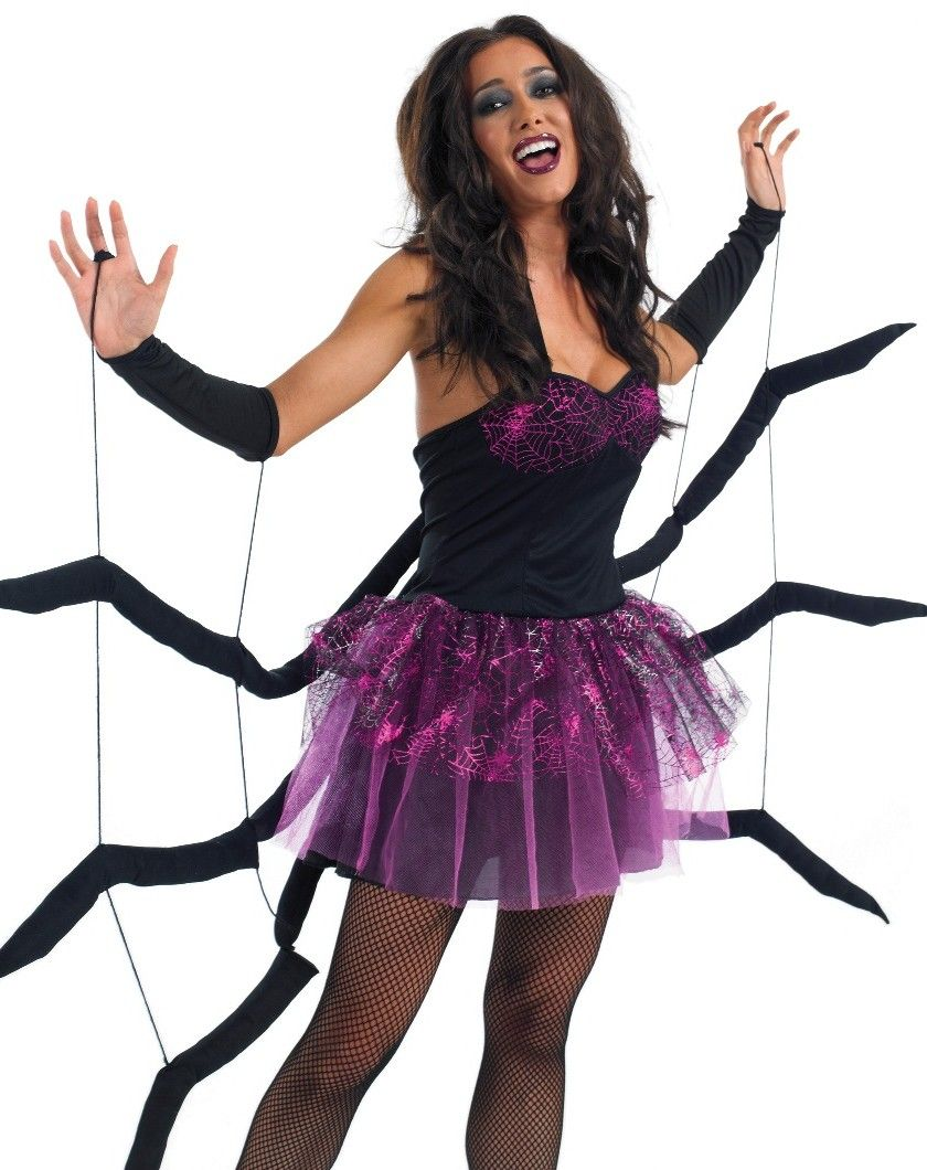 FANCY DRESS BLACK WIDOW SPIDER COSTUME / SPIDERS WEB OUTFIT ...
