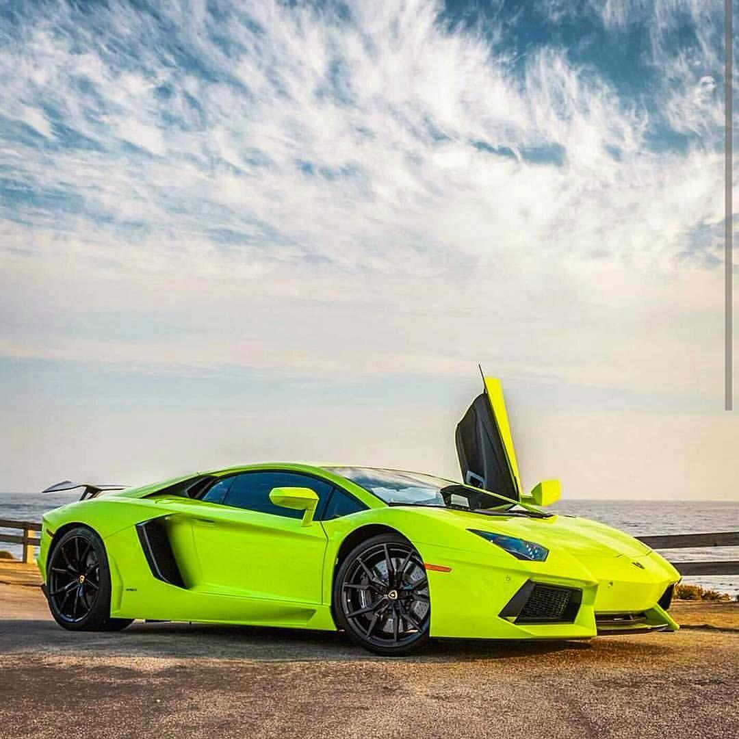 Luxury Car Lamborghini: Green Lamborghini Aventador