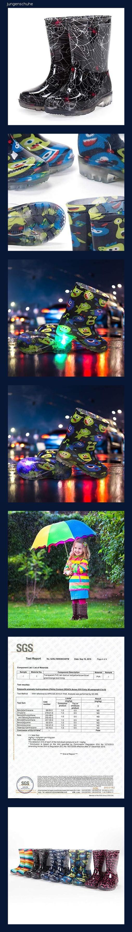big sale 17c18 2a7b3 diMio Blinkende LED Regenstiefel in Gr. 26-31 für Kinder mit ...