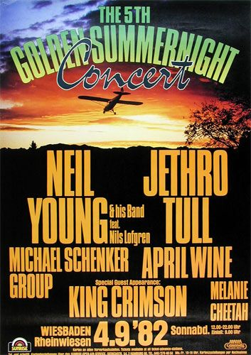5th Golden Summer Night 1982 - Neil Young, Jethro Tull, Michael Schenker Group, April Wine, King Crimson. YoungWiesbaden. Germany