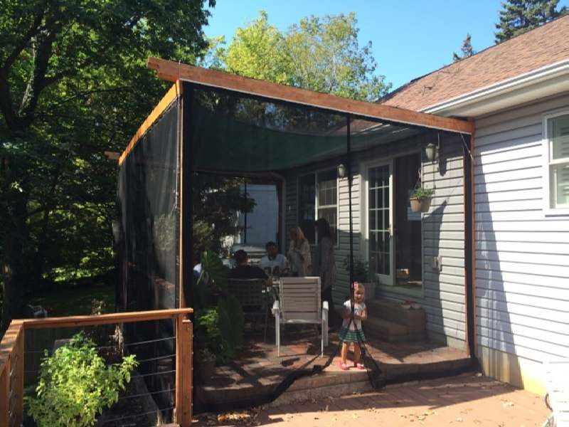 How To Screen A Porch | Mosquito Net Gallery