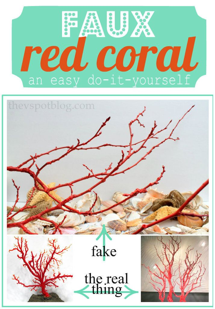 Faux Red Coral made from sticks & spray paint  | Ariel | Red coral