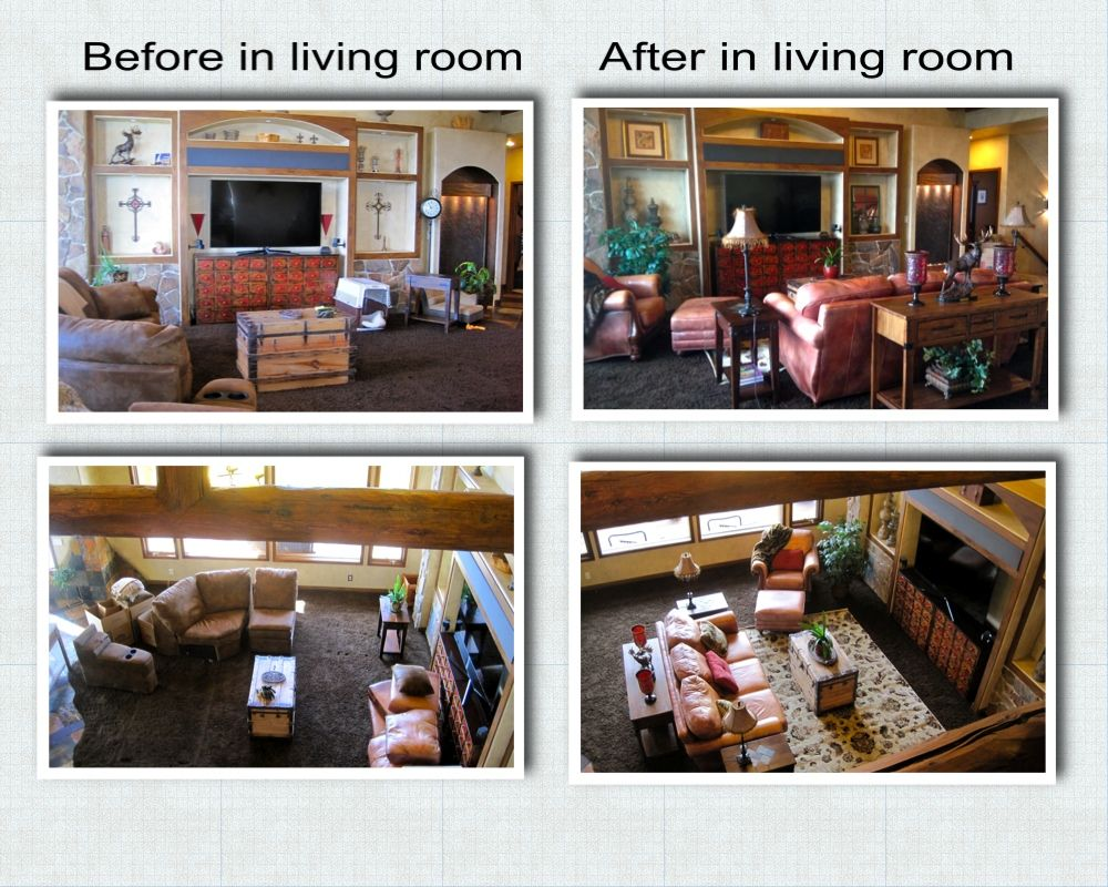 Before and after living room in $Million home in Evergreen ...