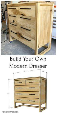 Modern 5 Drawer Dresser--{9 Step Printable Building Plans!}