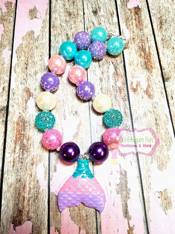 Check out this item in my Etsy shop https://www.etsy.com/listing/505691657/mermaid-tail-bubblegum-necklace-chunky