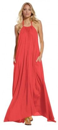 Elan usa maxi halter tie flowy long dress