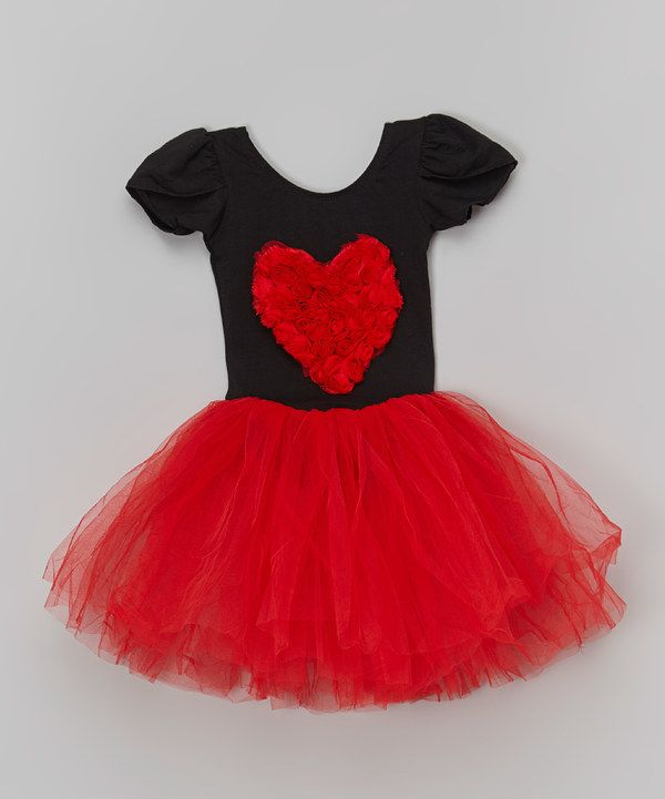 a2b39fd9d2 Sparkle Adventure Black & Red Rosette Heart Tutu Dress - Toddler & Girls  #zulily #ad *so cute for valentine's day