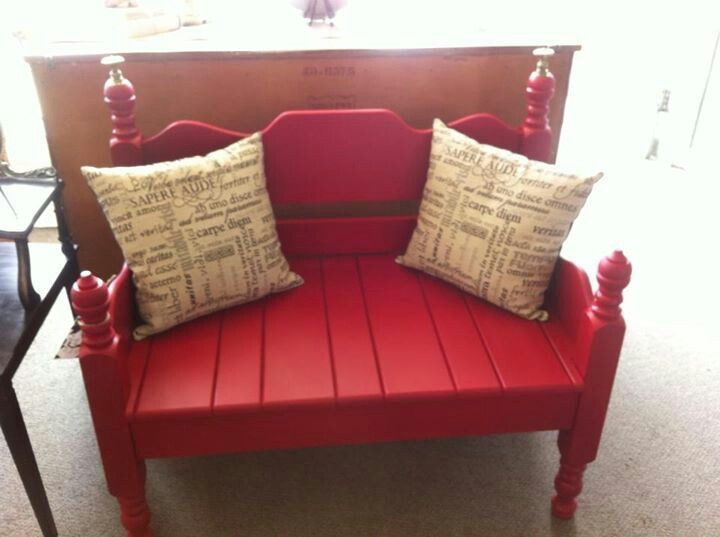Bench from twin bed