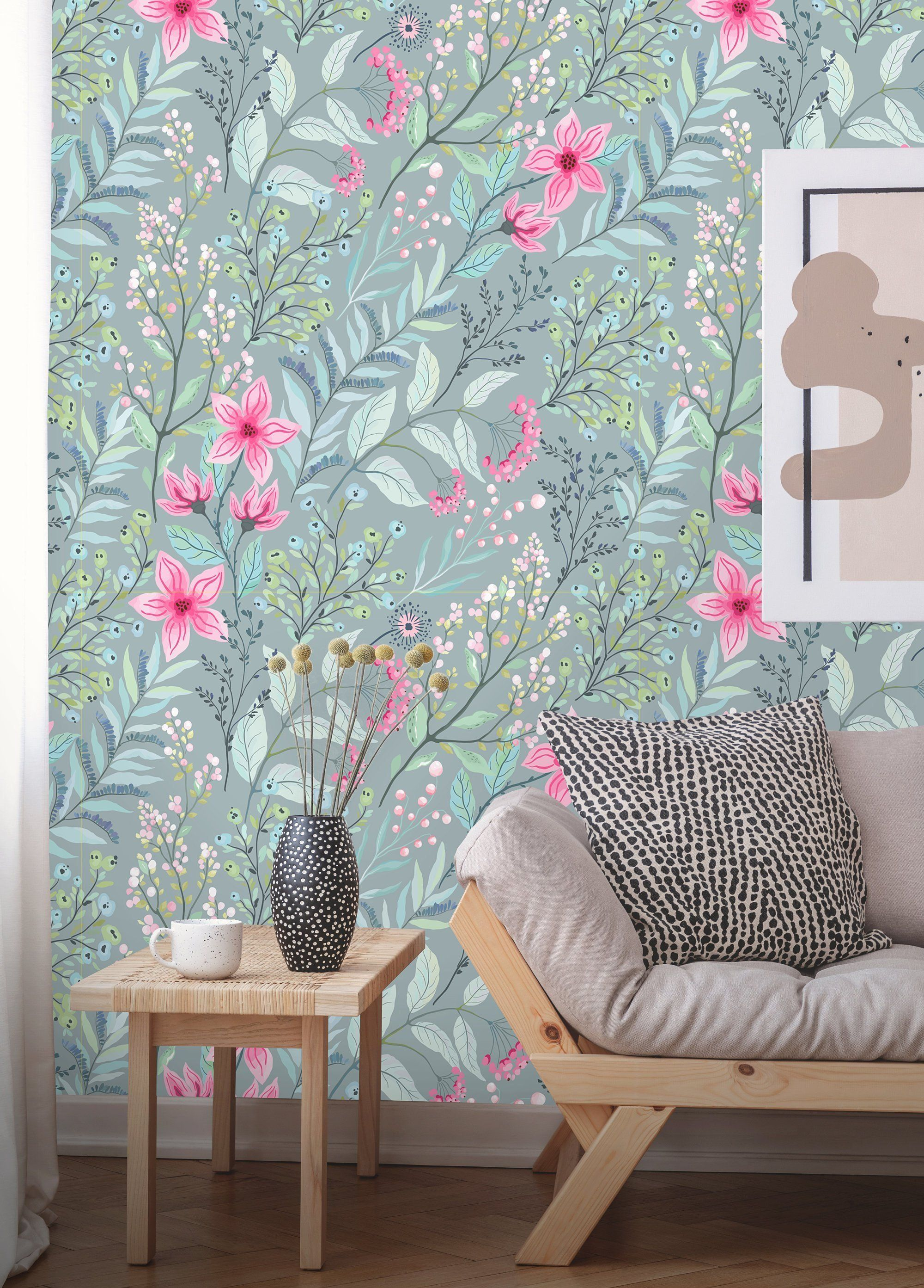 Removable Wallpaper Peel And Stick Floral Wallpaper Etsy Removable Wallpaper Floral Wallpaper Textured Walls