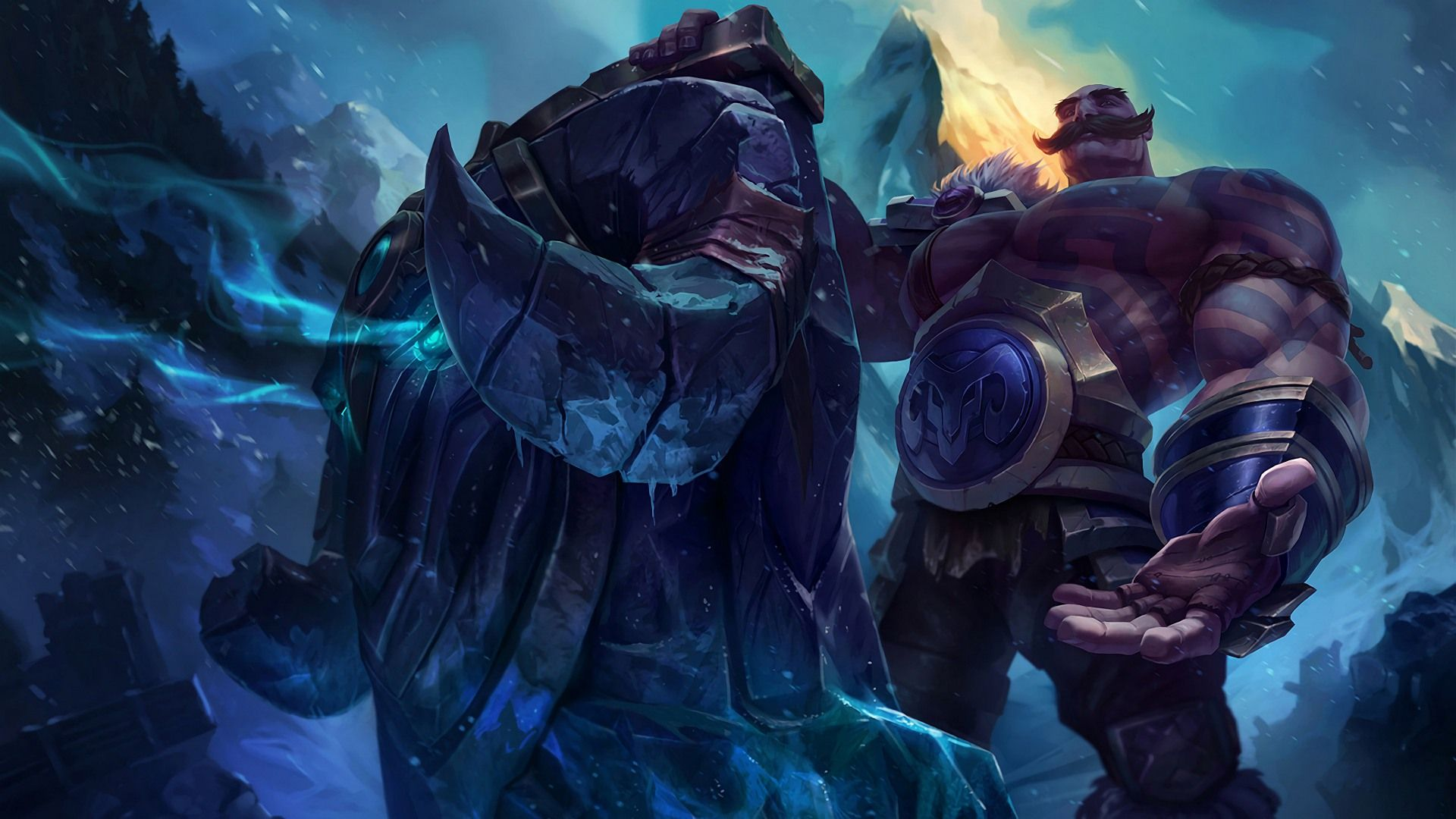 Download Wallpaper Classic Braum The Heart Of The Freljord Full Hd On Gamewalls League Of Legends Braum S Lol Champions