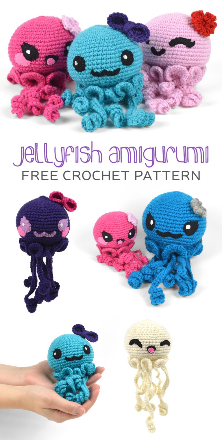 Free (Crochet) Pattern Friday! Jellyfish Amigurumi | Choly Knight ...