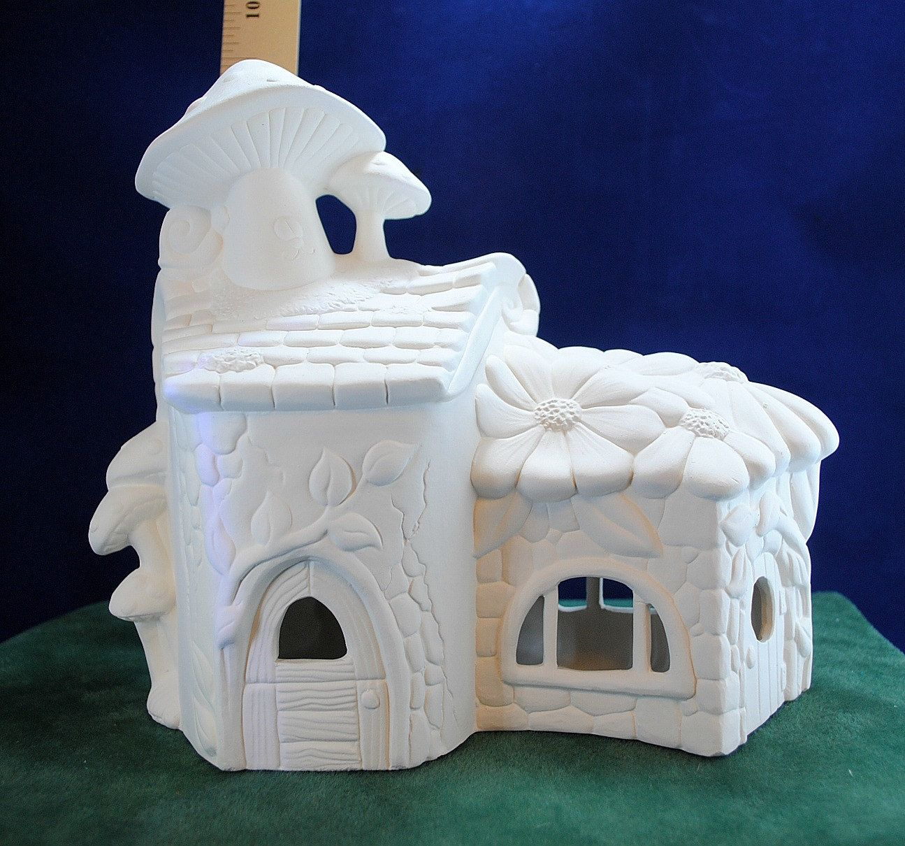 Fairy House In Ready To Paint Ceramic Bisque Fairy Garden Etsy Ready To Paint Ceramics Ceramic Painting Fairy Garden Etsy