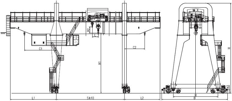 A type gantry crane sketch overhead crane gantry crane pinterest a type gantry crane is a type double girder gantry crane consists of a type gantry frame steel structure trolley crane traveling mechanism electrical sciox Images
