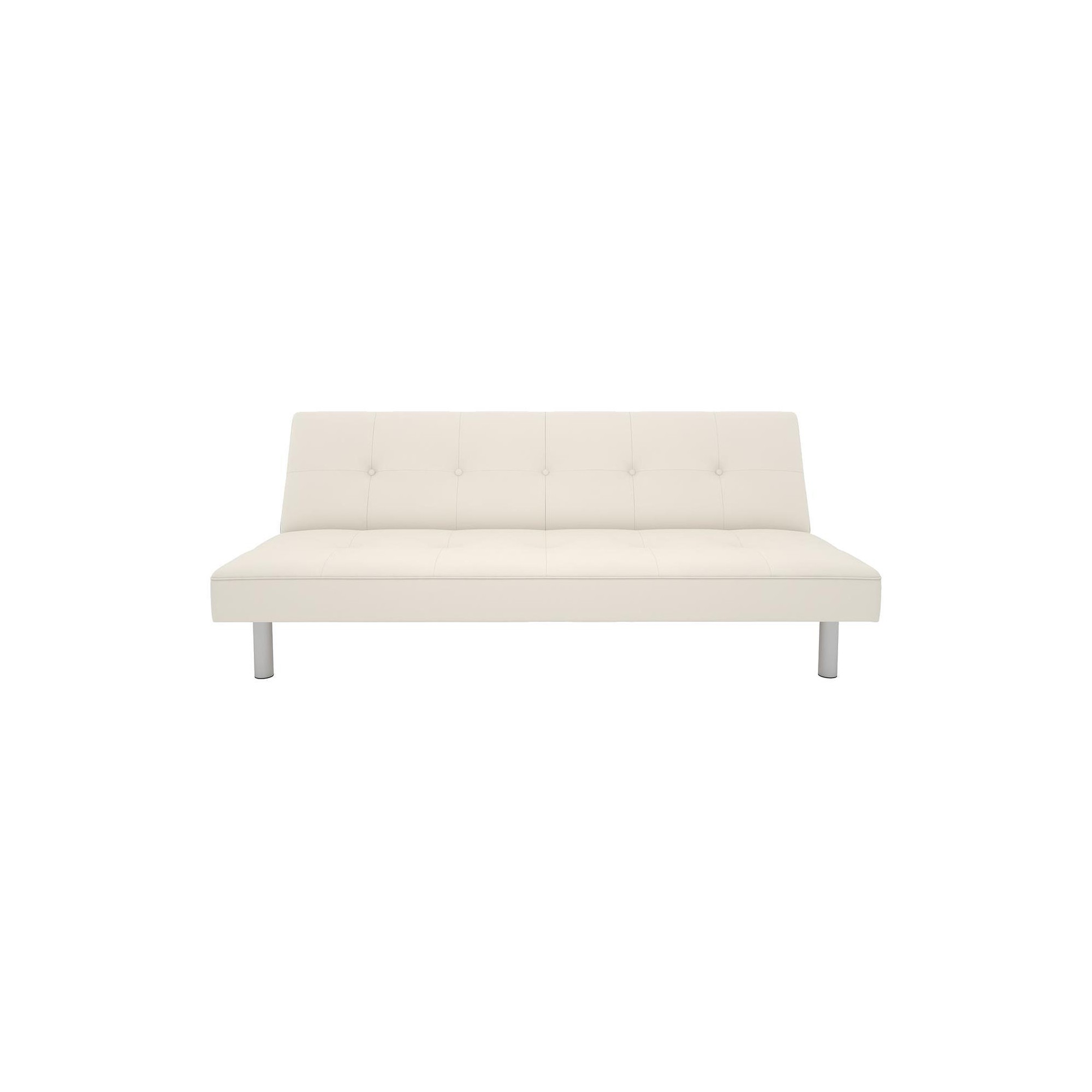 Nola Faux Leather Futon White Dorel Home Products